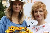 Helena Houdová a Anna Geislerová v nadaci Slunečnice