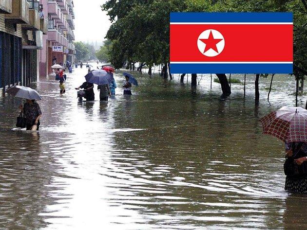 Prudké lijáky sužují obyvatele Severní Koreje.