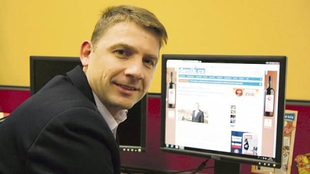 Petr Mach v redakci Deníku
