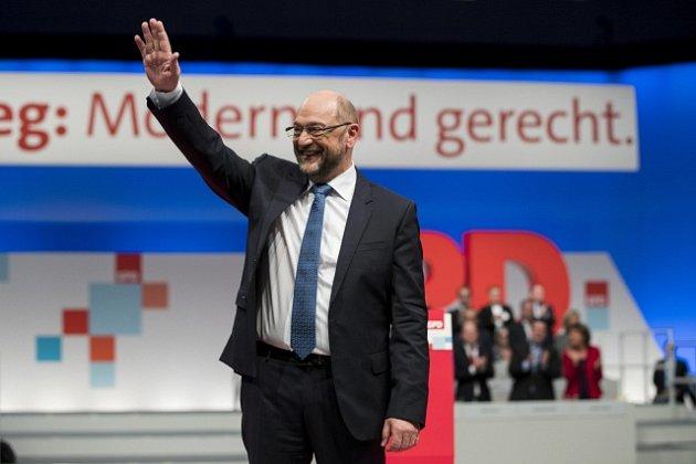 Martin Schulz na jednání své strany SPD