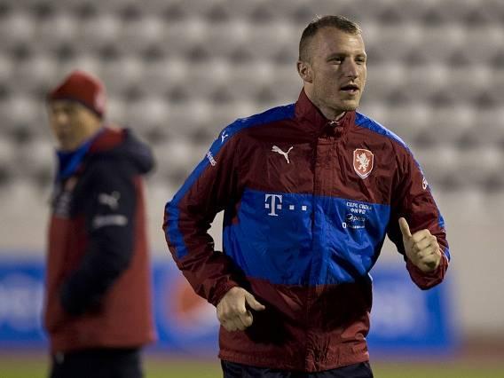 Michael Krmenčík na reprezentačním tréninku.