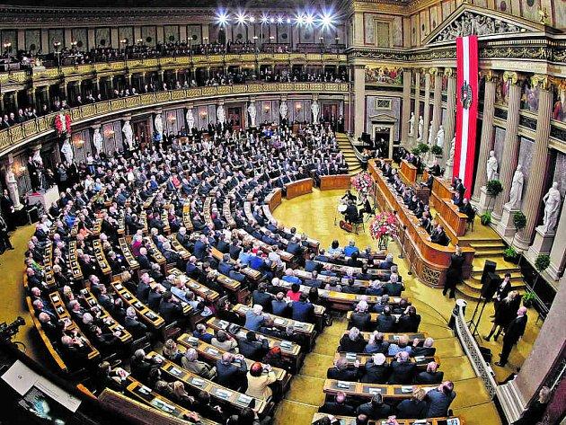 Zasedání rakouského parlamentu.