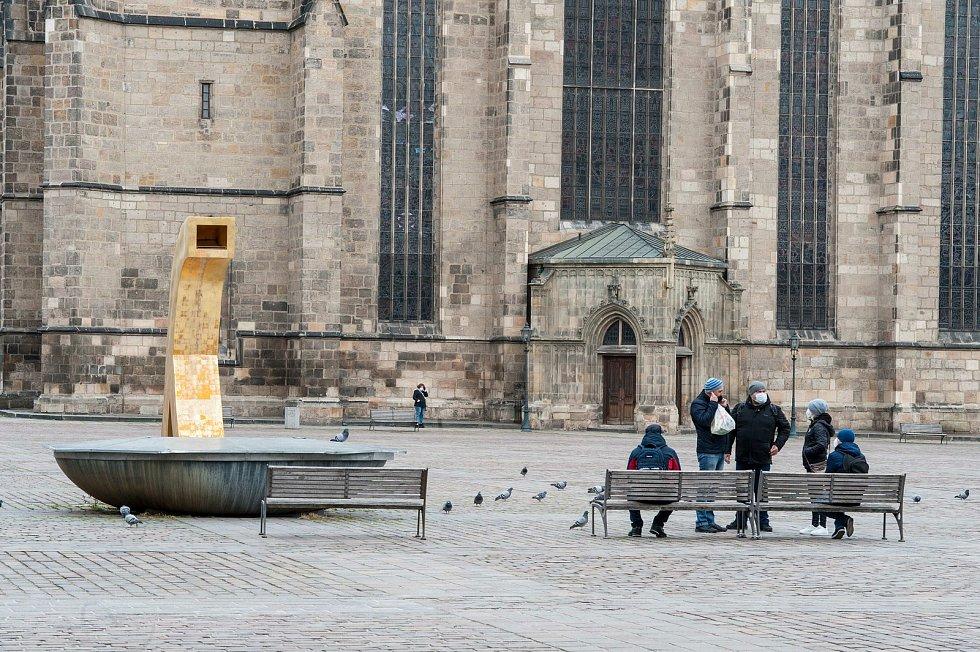 Centrum Plzně v sobotu 13. března 2021