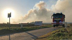 Požár vřesovišť nedaleko Meppenu zažehly raketové testy