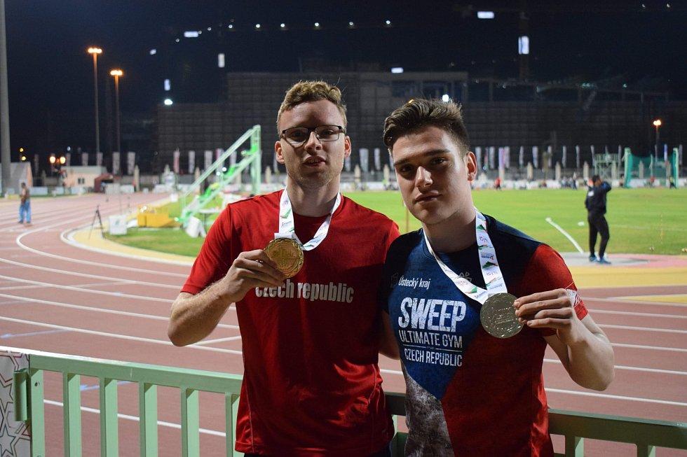 Medailisté Martin Dvořák a Marek Douda