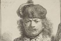 Rembrandt van Rijn - Autoportrét se vztyčenou šavlí, 1634