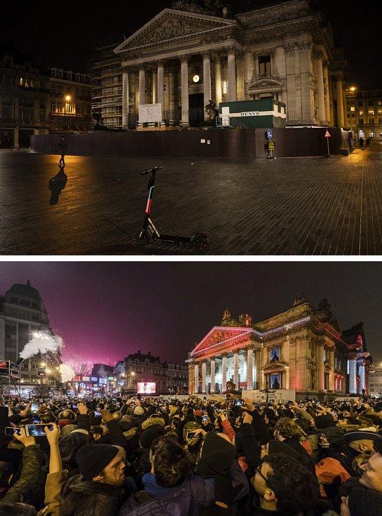 Ani v Belgii si letos lidé novoroční oslavy neužili.