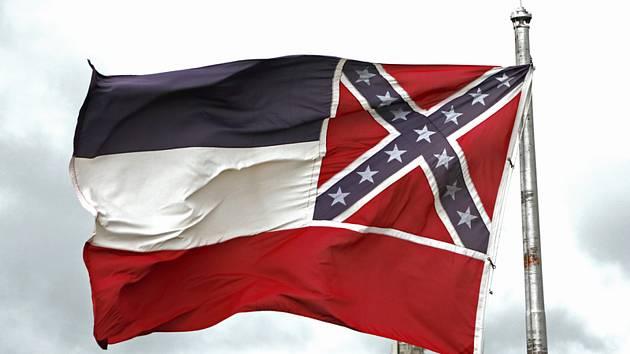 Vlajka Mississippi se znakem Konfederace