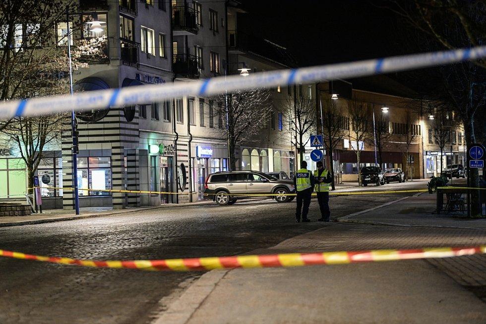 Útok ve švédském městě Vetlanda