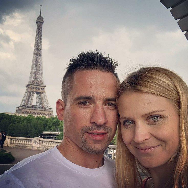 Při návštěvě Paříže.