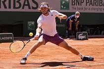 Řecký tenista Stefanos Tsitsipas ve finále French Open.