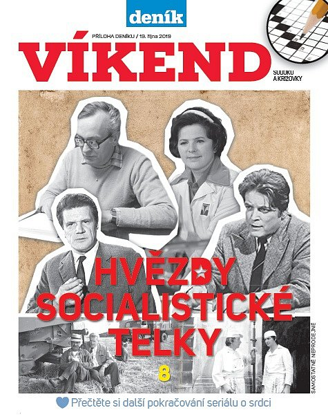 Titulní strana magazínu Víkend