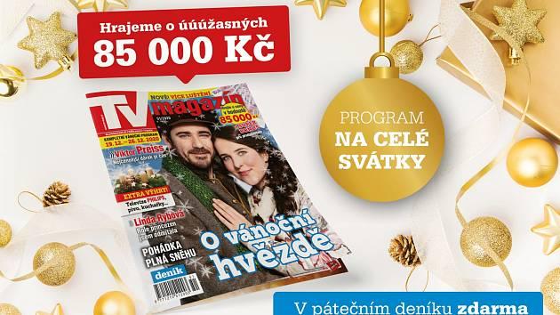 Páteční Deník s TV magazínem a programem na celé Vánoce