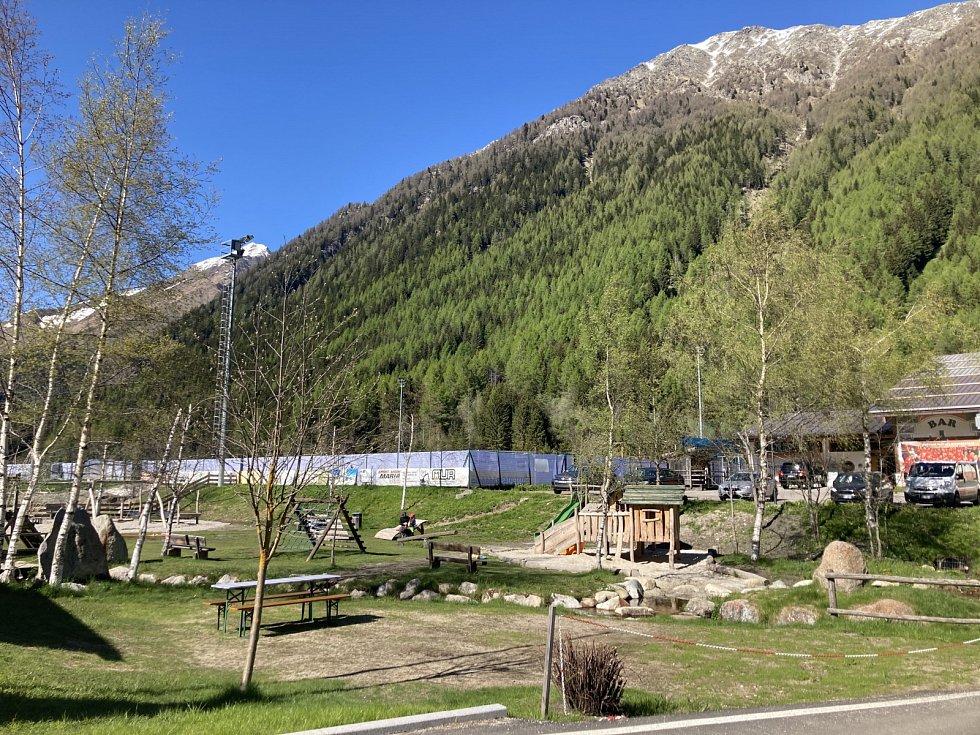 Fotbalová reprezentace přijela na přípravný kemp v Jižním Tyrolsku.