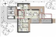 Celková užitná plocha domu: 190.64 m2, zastavěná plocha (bez garáže): 221,25 m2