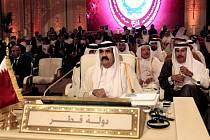 Katarský emír Hamad bin Chalífa Sání.