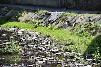 Sucho, vyschlý potok - ilustrační foto