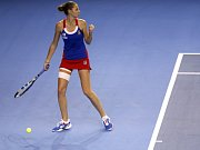 Karolína Plíšková ve finále Fed Cupu proti Francii.