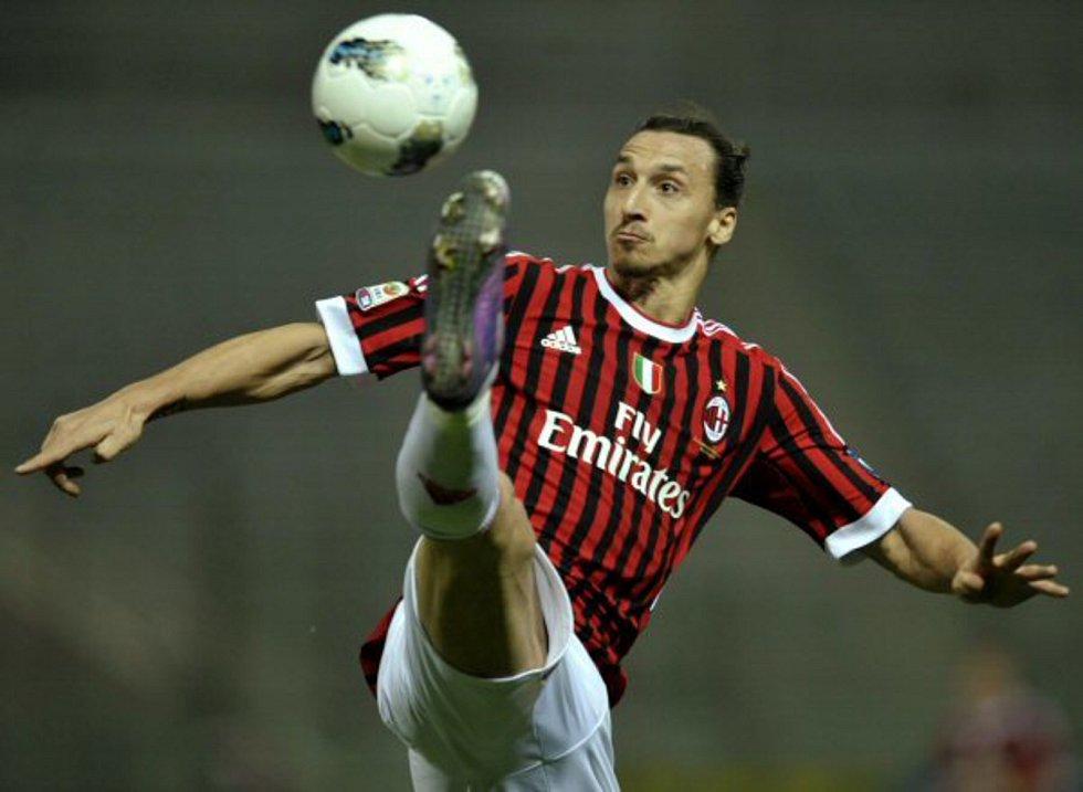 Fotbalista AC Milán Zlatan Ibrahimovic
