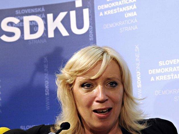 Iveta Radičová (SDKÚ-DS), žhavá kandidátka na novou slovenskou premiérku.