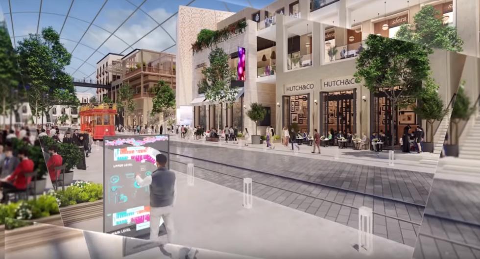 Plánované obří nákupní centrum v Dubaji.