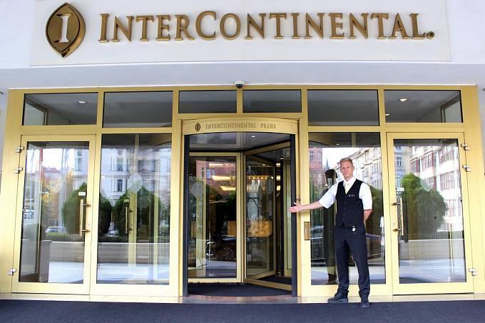 InterContinental hotel v Praze v Pařížské ulici.