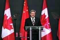 Kanadský premiér Stephen Harper na návštěvě v Číně.