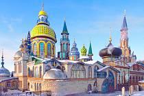Chrám všech náboženství v ruské Kazani.
