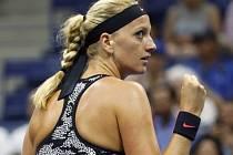 Petra Kvitová a její radost z postupu do 2. kola US Open