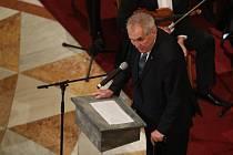 Slavnostní otevření Národního muzea v Praze. Prezident Miloš Zeman.