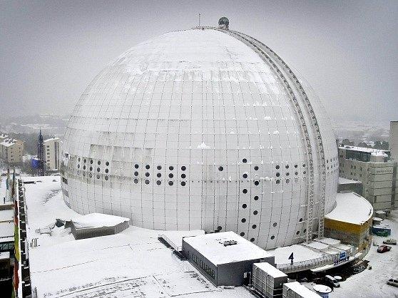 Globe Arena (hokejový stadion) je jednou z dominant Stockholmu
