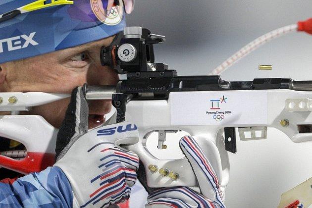 Ondřej Moravec ve štafetě na olympijských hrách v Pchjongčchangu.
