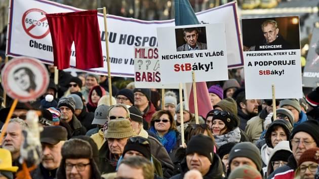 72c79c8b4ea Na Václavském náměstí v Praze se 25. února konala demonstrace za svobodu