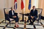 Andrej Babiš a britská premiérka Theresa Mayová.