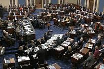 Senát amerického Kongresu během jednání o soudní žalobě na prezidenta Donalda Trumpa 22. ledna 2020