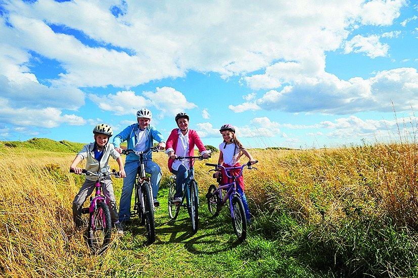S dětmi na kole