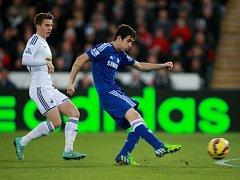Swansea - Chelsea: Oscarův gól