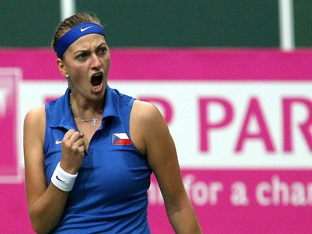 Petra Kvitová ve Fed Cupu proti Itálii.