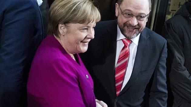 Angela Merkelová a Martin Schulz