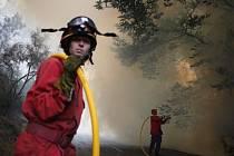 Lesní požáry v Portugalsku. Úřady do boje proti nim nasadily na 700 hasičů.