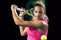 Kristýna Plíšková v prvním kole Australian Open.