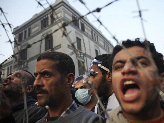 Demonstrace v egyptské Káhiře.