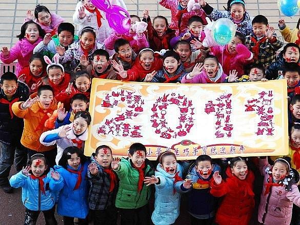 Vítání nového roku v Číně.