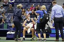 Barbora Krejčíková na US Open.