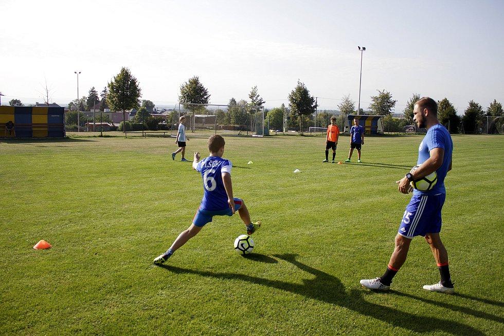 Zástupci prvoligové Sigmy navštívili trénink žáků v Dolanech