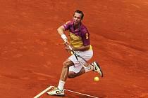 Radek Štěpánek na turnaji v Madridu.