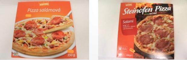 Dvě verze pizzy
