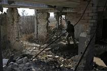 Ukrajinští vojáci v Doněcku