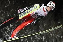 Švýcar Simmon Ammann v závodu SP v Sapporu.