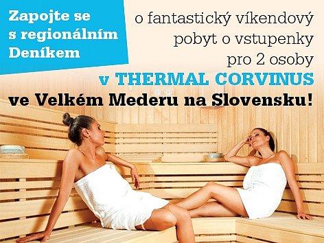 Zapojte se s regionálním Deníkem do soutěže o fantastický pobyt v TERMAL CORVINUS na Slovensku.